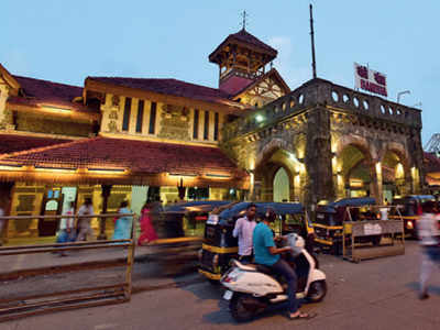 Outside Bandra station